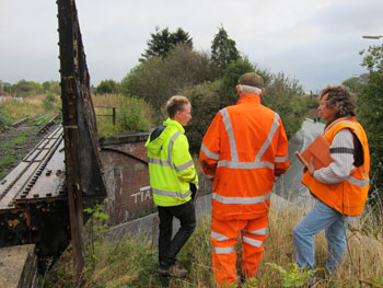 Inspecting Whittington Road Bridge